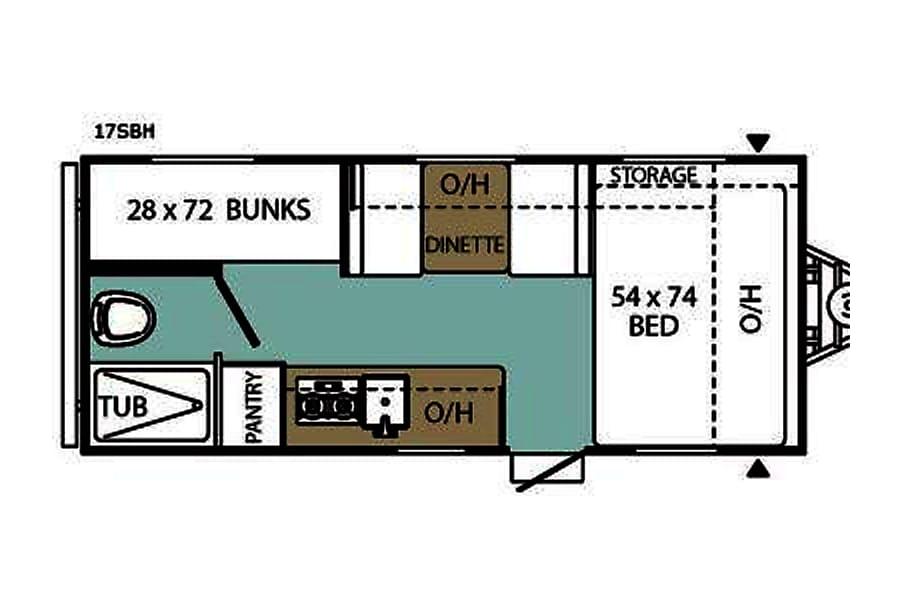 floorplan 2014 Viking Saga 17SBH Randolph, MA