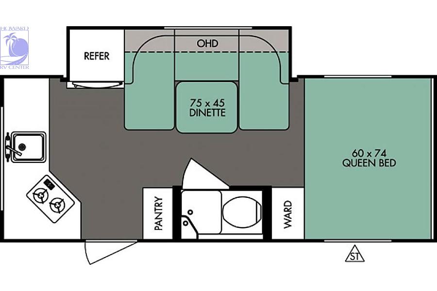 floorplan 2017 Forest River R-Pod Cary, NC