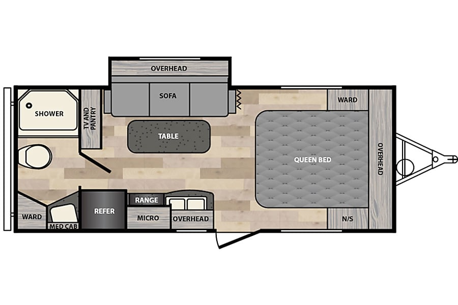 floorplan 2017 Winnebago Micro Minnie Denver, CO