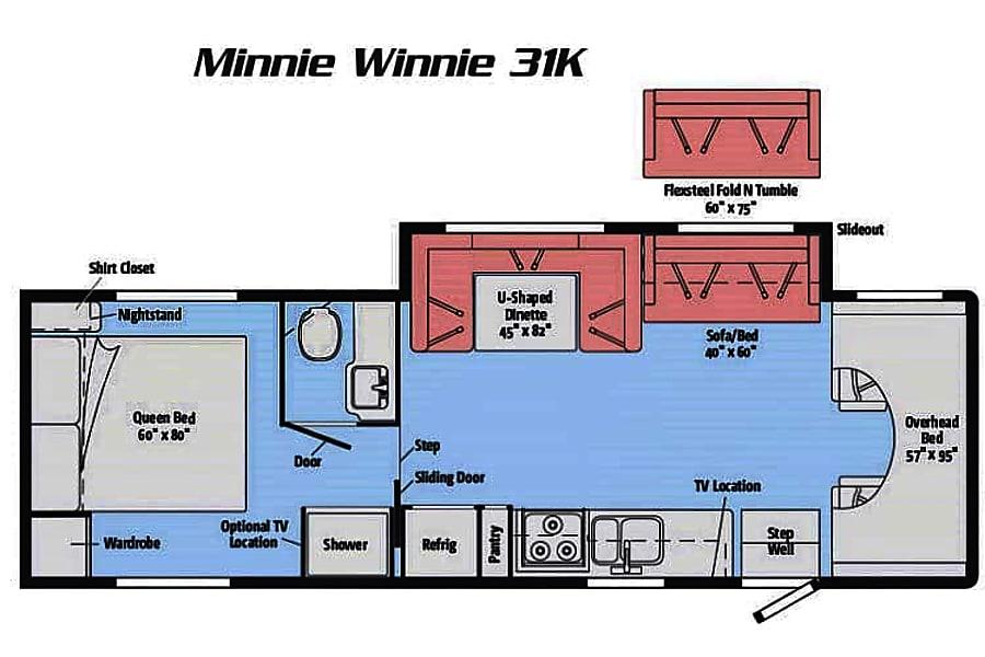 floorplan 2016 Winnebago Minnie Winnie Allyn Grapeview, WA
