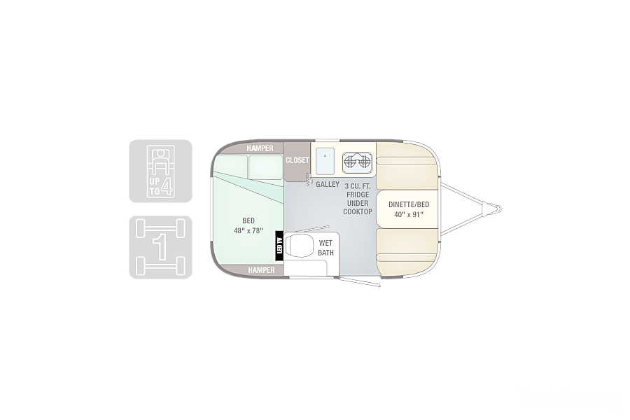floorplan 2018 Airstream Sport Foster City, CA