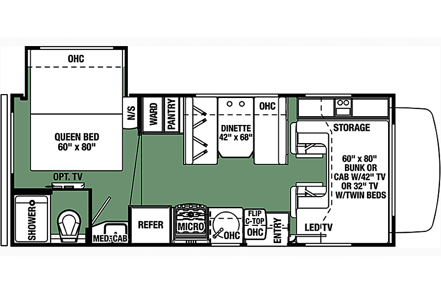 floorplan 2017 Forest River Forester East Los Angeles, CA