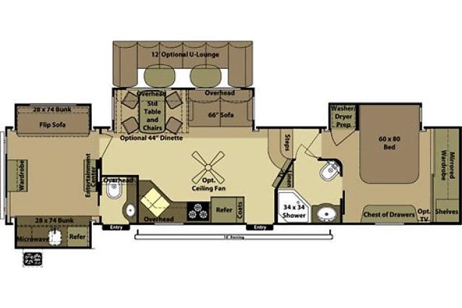 floorplan 2013 Open Range Roamer Sanger, TX