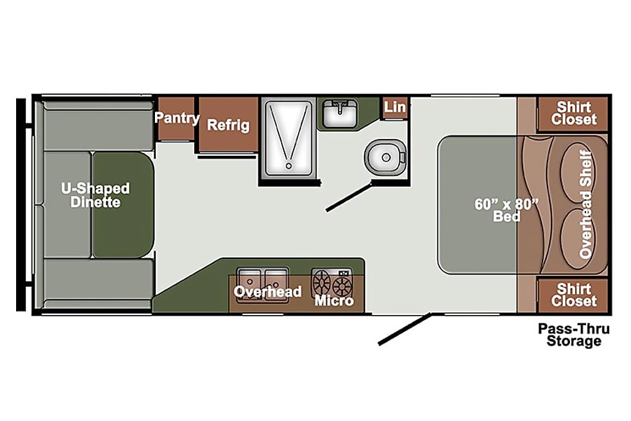 floorplan 2017 Gulf Stream Streamlite 22UDL Houston, TX