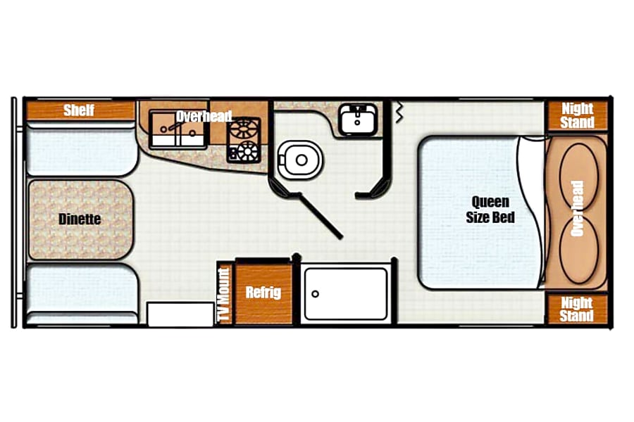 floorplan 2017 Gulf Stream Vista Cruiser Austin, TX