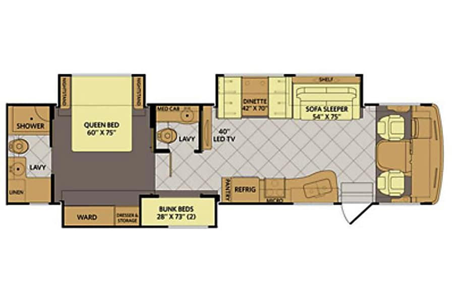 floorplan 2016 Fleetwood Bounder Littleton, CO