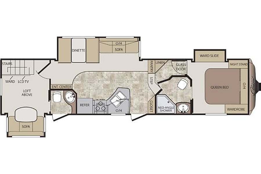 floorplan 2014 Keystone Cougar Lithia Springs, GA