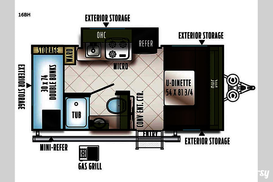 floorplan Th(E-Pro): Lightweight, easy to tow and setup awesomely equipped camper! Fort Worth, TX
