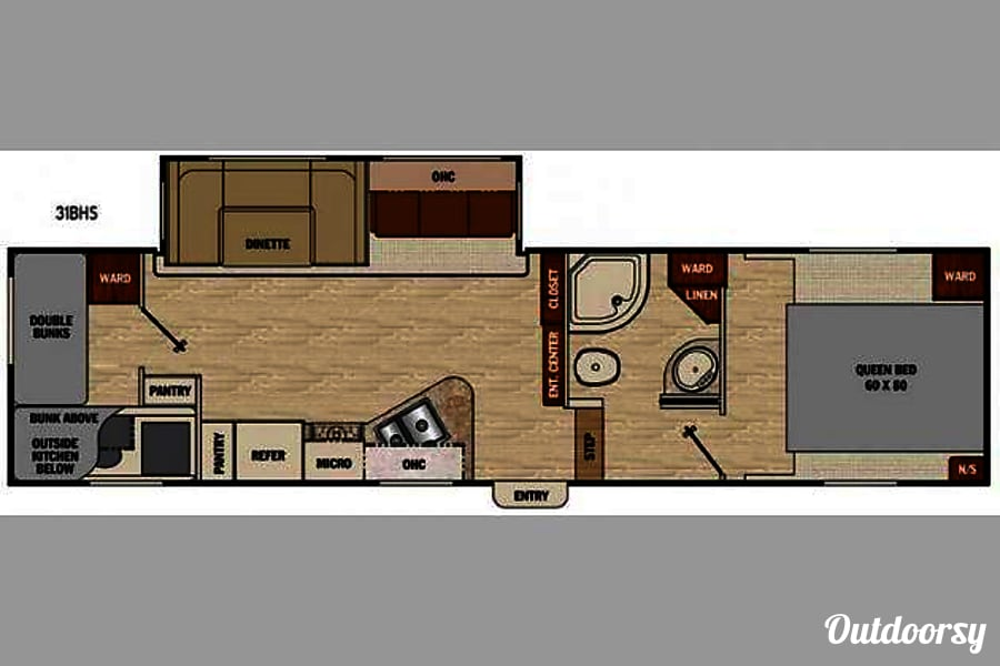 floorplan 2016 Coachmen Chaparral Mustang, OK