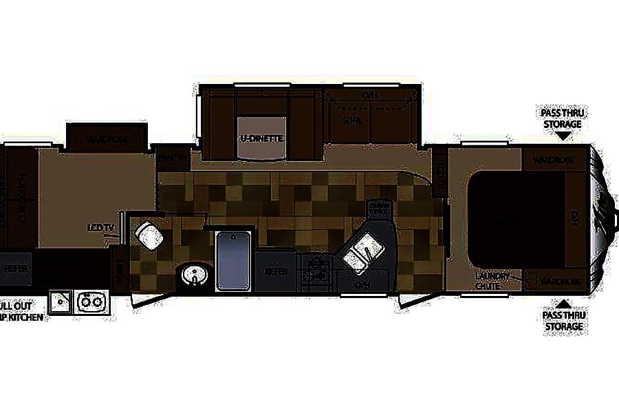 floorplan 2016 Keystone Cougar Mineral, VA