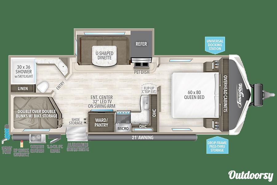 """floorplan 2018 Grand Design Imagine """"The Roadrunner"""" Hockley, TX"""