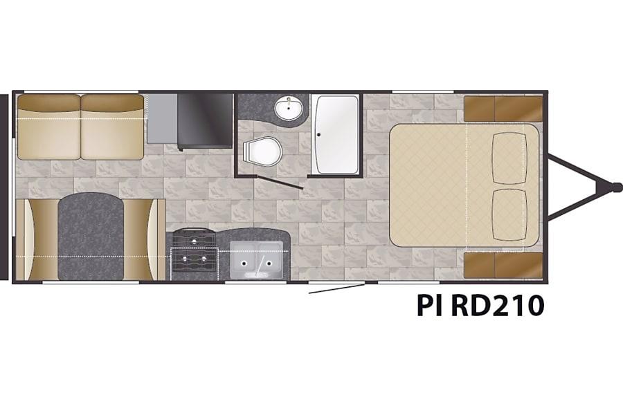 floorplan 2018 Heartland Pioneer Jacksonville, FL
