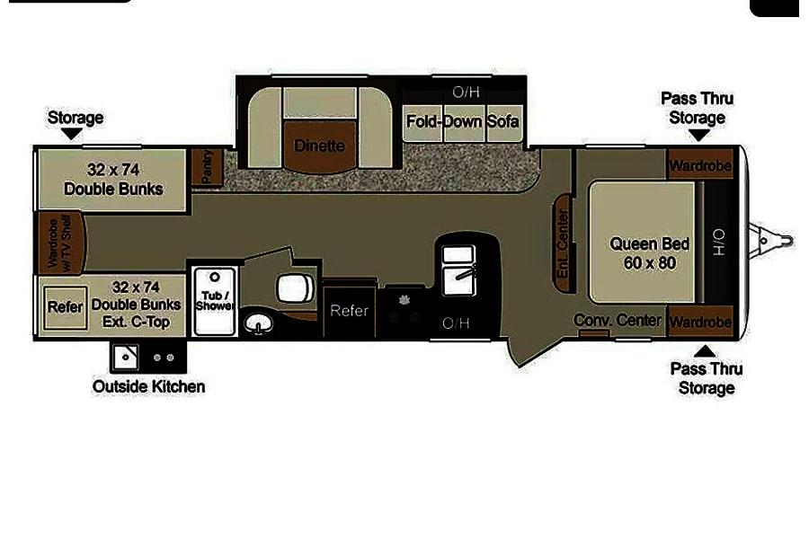 floorplan 2017 Keystone Passport Ultra-Lite w/Bunkhouse Arlington, TX