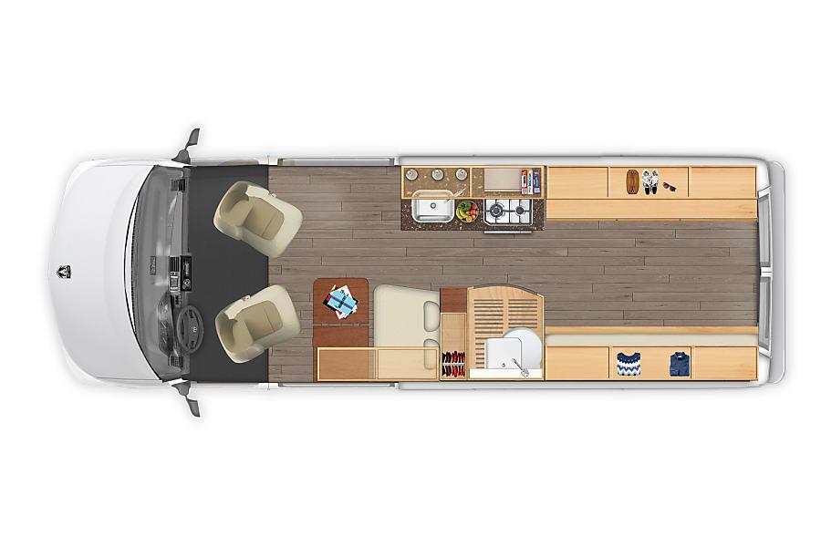 "floorplan ""Ranger"" - 2018 Hymer Aktiv 2.0 Houston, TX"
