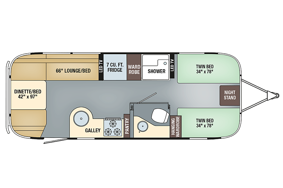 floorplan 2018 Airstream Flying Cloud Novato, CA