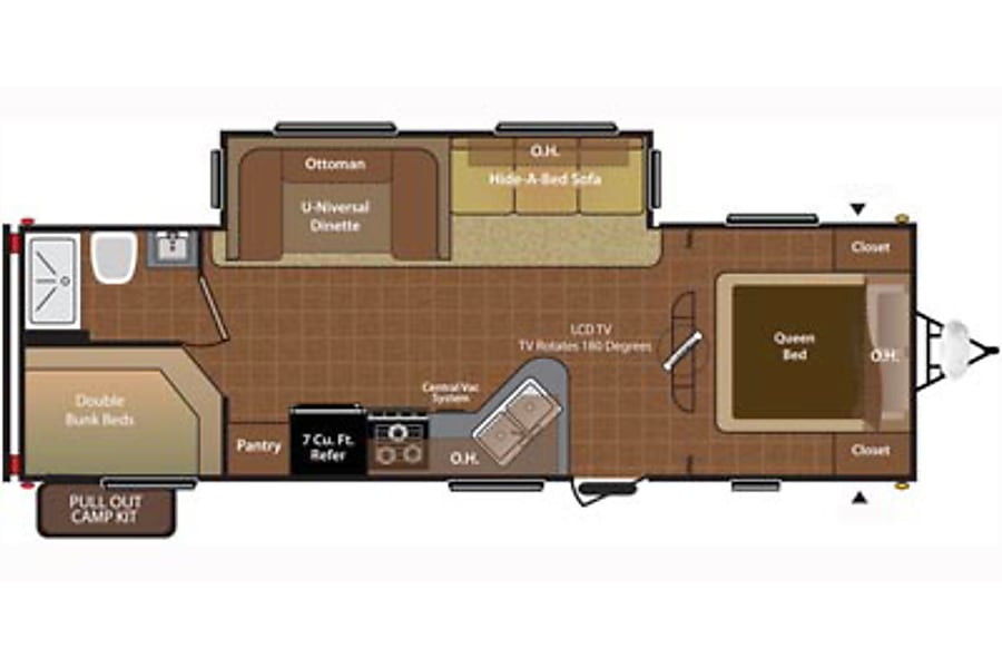 floorplan 2015 Keystone Hideout Whitewood, SK