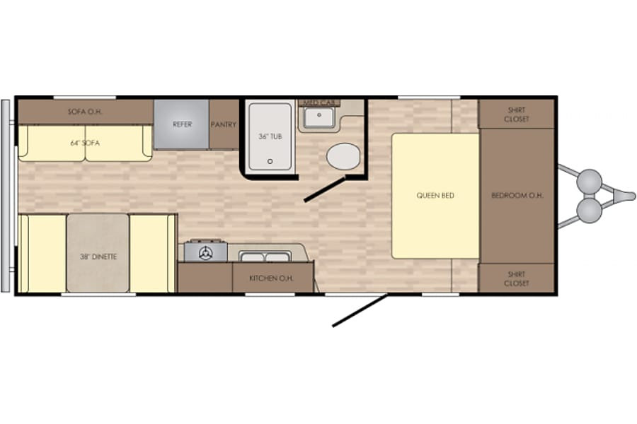 floorplan 25' Like New Crossroads Z-1, Sleep up to 6 Cement City, MI