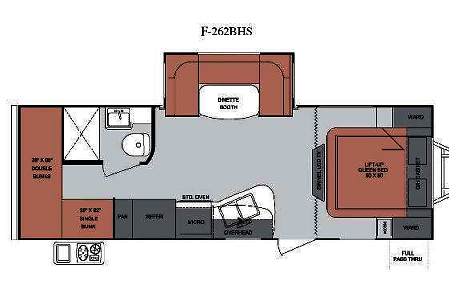 floorplan 2013 Cruiser Rv Corp Fun Finder San Diego, CA