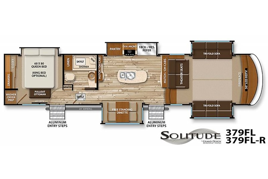 floorplan 2015 Grand Design Solitude Brenham, TX