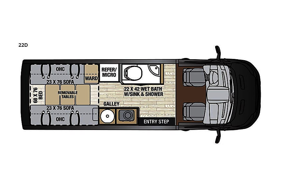 floorplan RV 16: 2019 Coachmen Crossfit-22D Herndon, VA