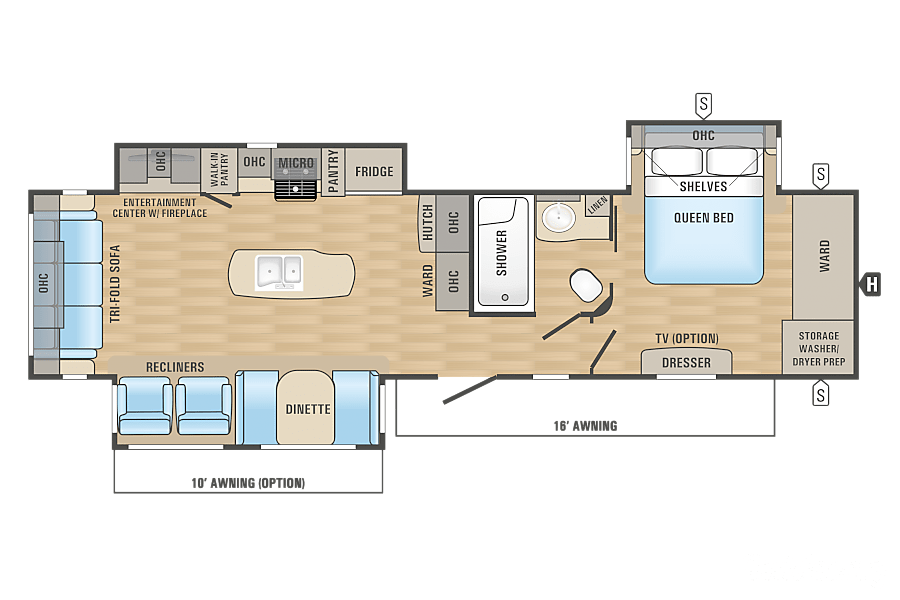 floorplan 2017 Jayco Eagle Horizon City, TX