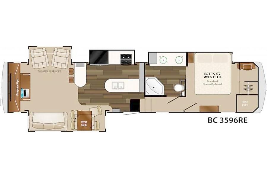 floorplan 2015 Heartland Big Country 3596RE Buda, TX