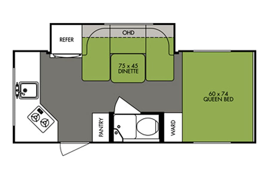 floorplan 2015 Forest River R-pod 179 Placerville, CA