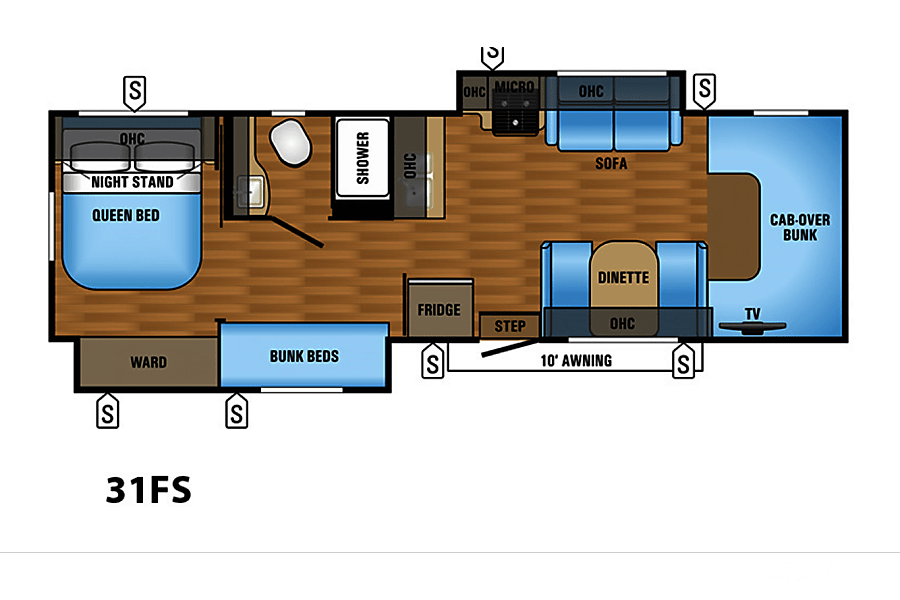 floorplan 2018 Forest River Sunseeker Frisco, TX