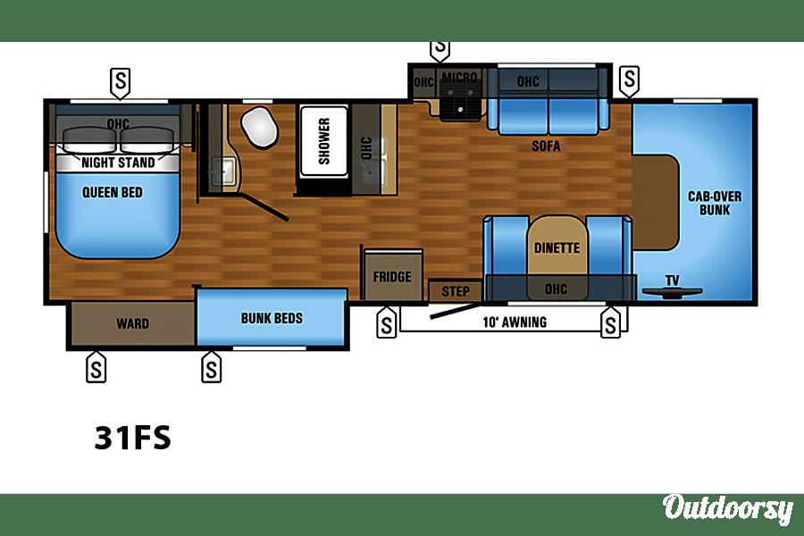 floorplan 2018 Forest River Sunseeker Greenville, TX