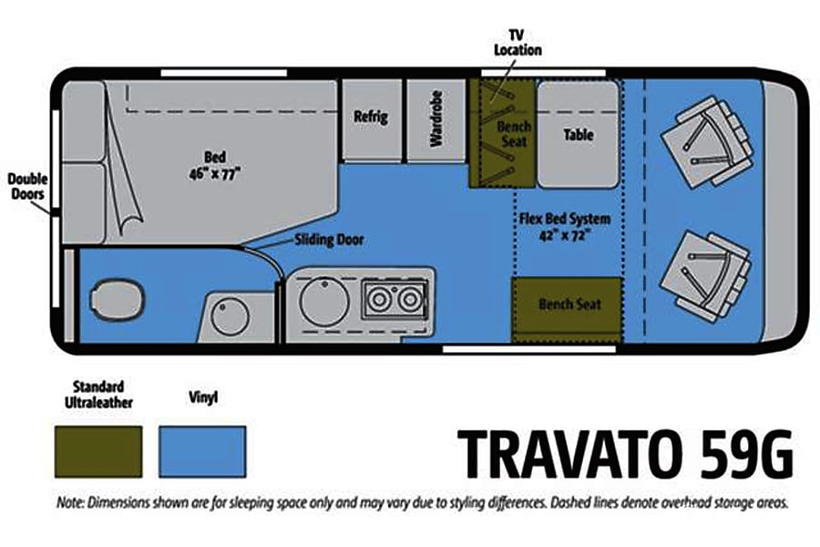 floorplan Roxanne (2015 Winnebago Travato 59G) Silver Spring, MD