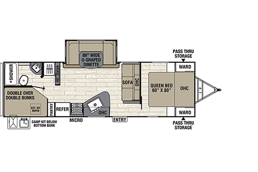 floorplan 2019 Coachmen Freedom Express 275BHS Thousand Palms, CA