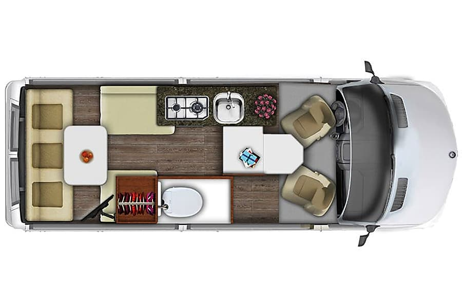 floorplan 2016 Roadtrek Agile SS Vista, CA