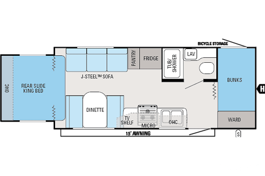 floorplan 2013 Jayco Jay Feather Ultra Lite X213 Tacoma, WA