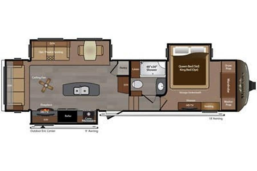floorplan Luxurious Keystone Montana 5th wheel Buda, TX