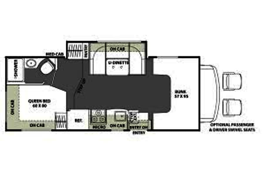 floorplan 25ft Coachmen 22QB San Diego, CA