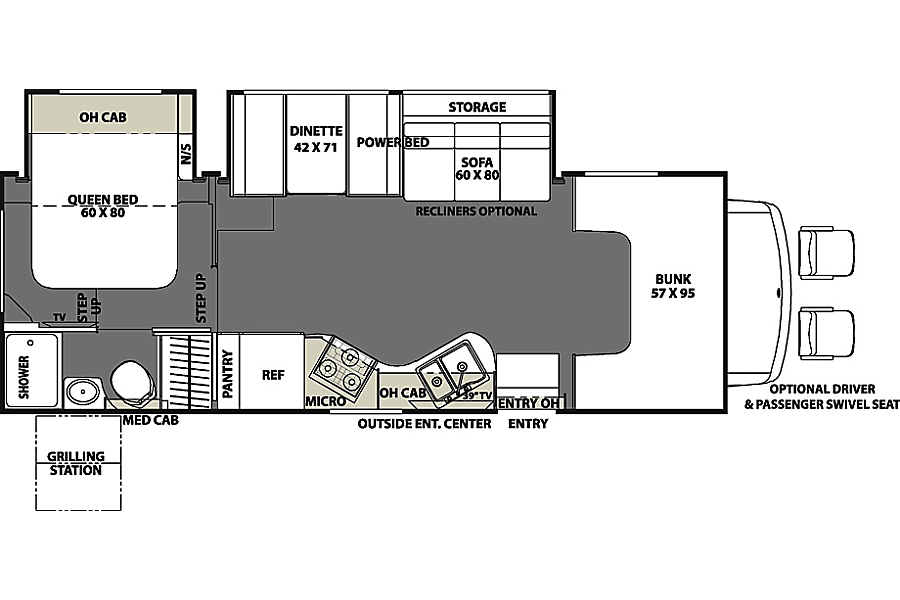 floorplan 29ft Coachmen 28BH San Diego, CA