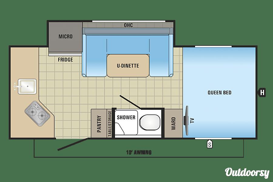 floorplan 2017 Jayco Hummingbird Placerville, CA