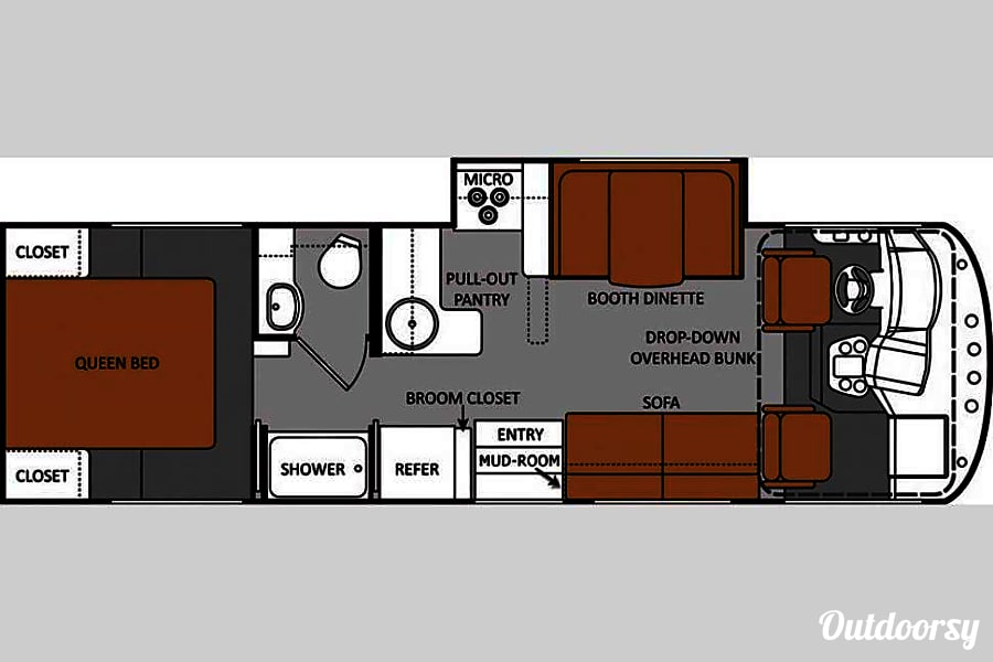 floorplan 2012 Thor ACE Nashville, TN