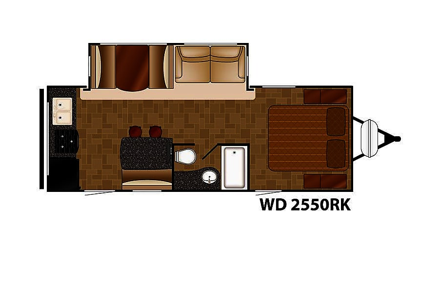 floorplan 2015 Heartland Wilderness Colorado Springs, CO