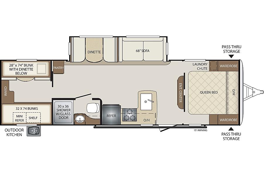 floorplan 2018 BULLET #2 28' Lynnwood, WA