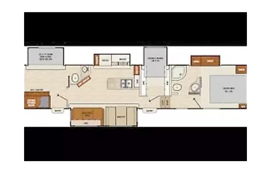 floorplan 2018 Chaparral 371MBRB (Hoyt) Beaumont, CA