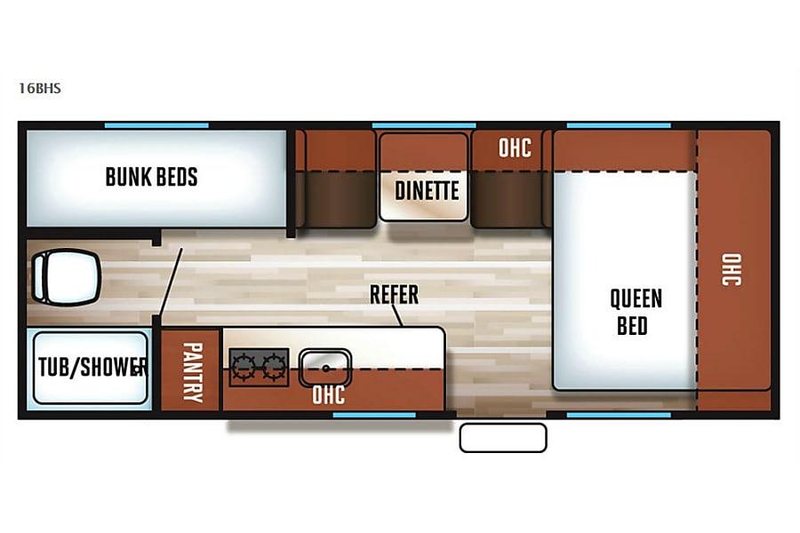 floorplan 2018 CherokeeLTD-WolfPupDelux-Bunks&Queen Lakeville, MN
