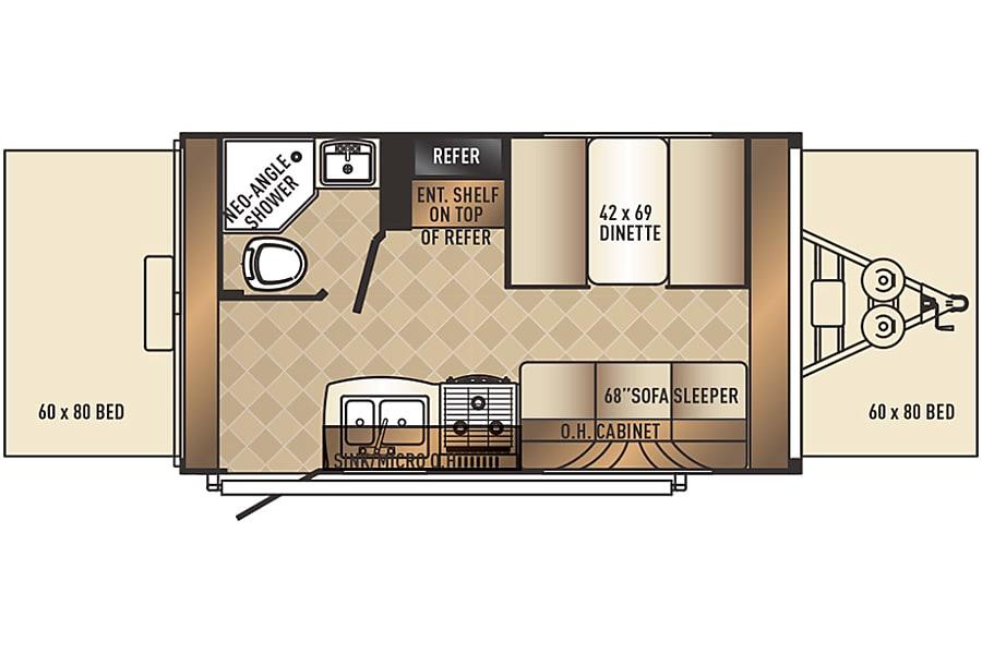 floorplan 2019 Palomino Solaire Expandable 147X Brampton, ON