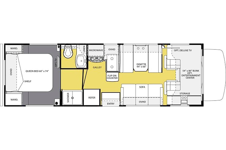 floorplan 2006 Forest River Sunseeker Cicero, NY
