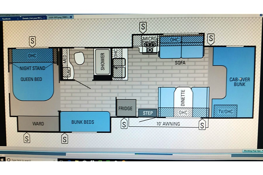 floorplan 2013 Jayco Greyhawk  31 FS -- Great for Family vacations -  Bunkhouse Federal Way, WA