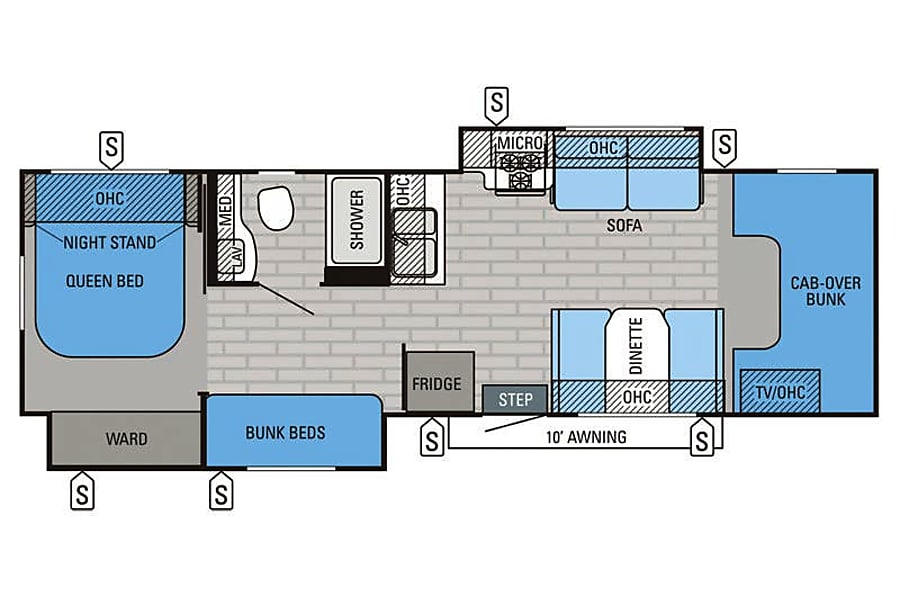 floorplan 2015 Jayco Grayhawk Glendale, AZ
