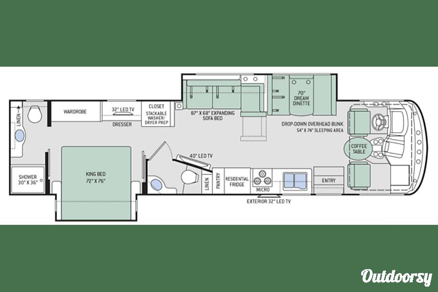 floorplan Remi the RV is a  2017 Thor  Hurricane 35M Reading, PA