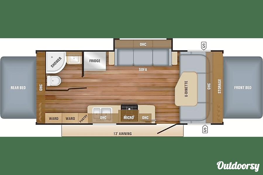 floorplan 2017 Jayco Jay Feather Clarkston, MI