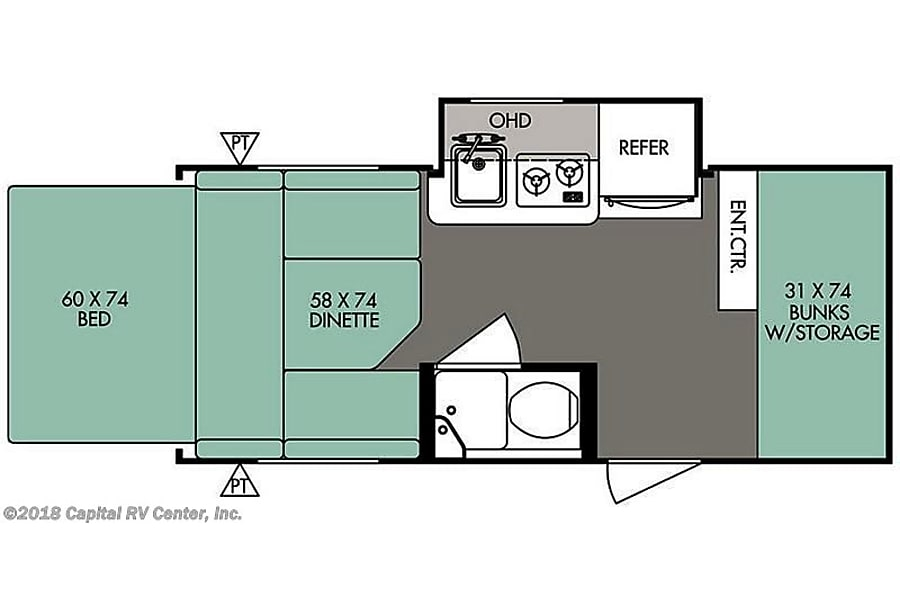 floorplan 2015 Forest River R-Pod River Forest, IL