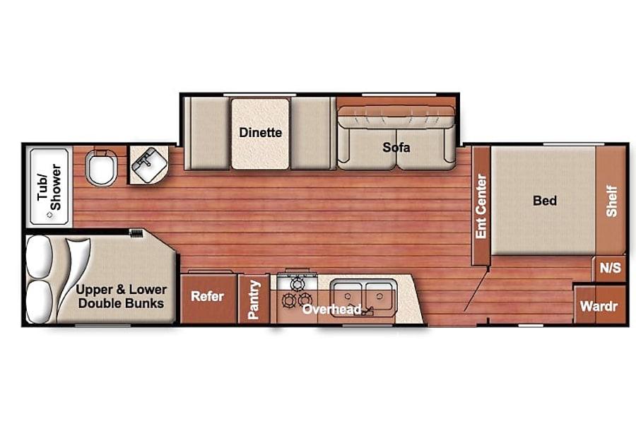 floorplan R6 2018 Gulfstream Amerilite 255 Detroit Lakes, MN